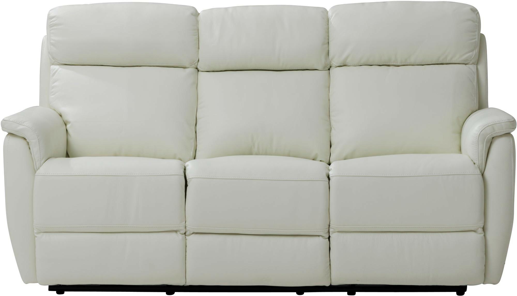 Colorado 3 istuttava sohva mekanismilla (Valkoinen nahkakn)